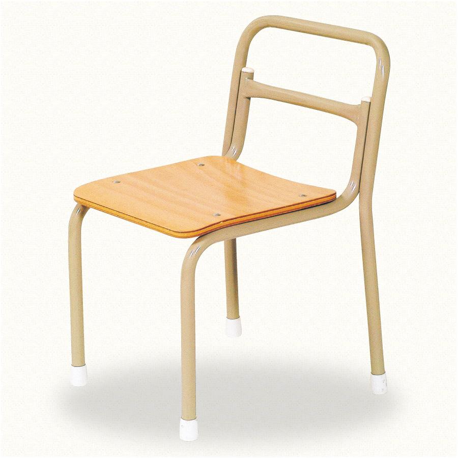 園児用椅子スタック式 S-19-A(背板無)